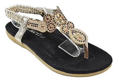 6e2c72a8f13d JJF Shoes Baby Girls KS13-29J Black Bling Glitter Rhinestone T-Strap  Cushioned Slingback