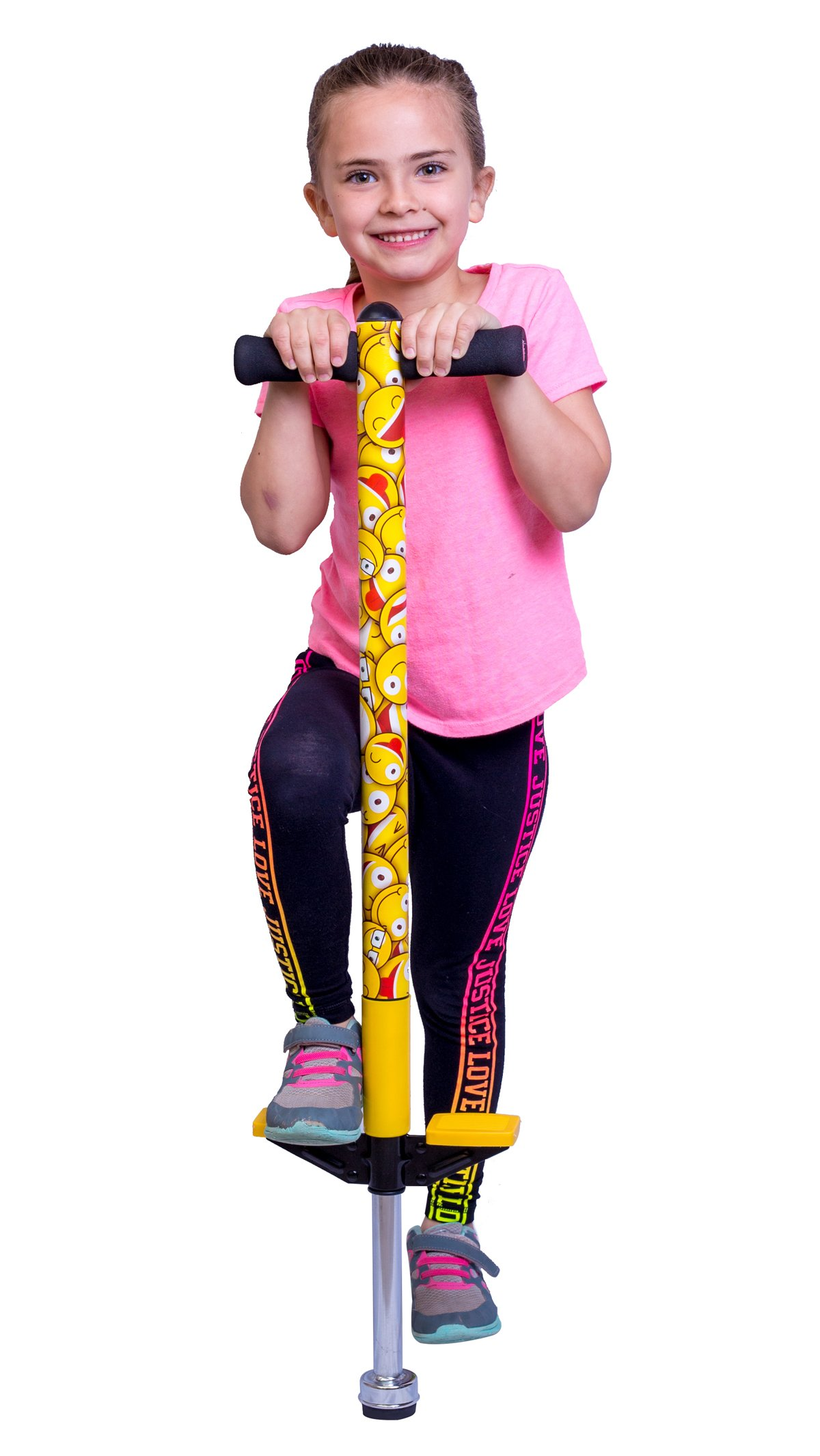PLENY Emoji Pogo Stick for Kids 5,6,7,8,9,10 Years Old - Weight 50 to 110 Lbs