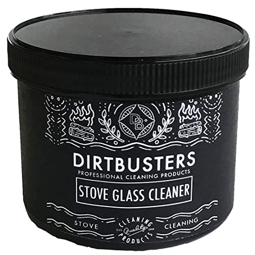 Dirtbusters Stove Glass Cleaner Professional stove glass cleaning paste 500g for wood burning stoves, dual fuel, log burner,