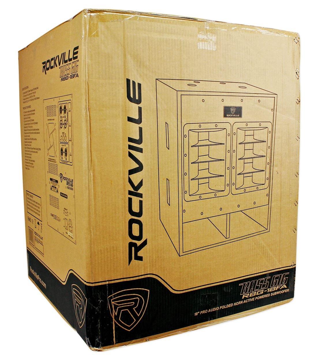 Rockville RBG18FA 18'' 3000w Active Powered Pro Subwoofer Folded Horn PA/DJ Sub by Rockville (Image #8)