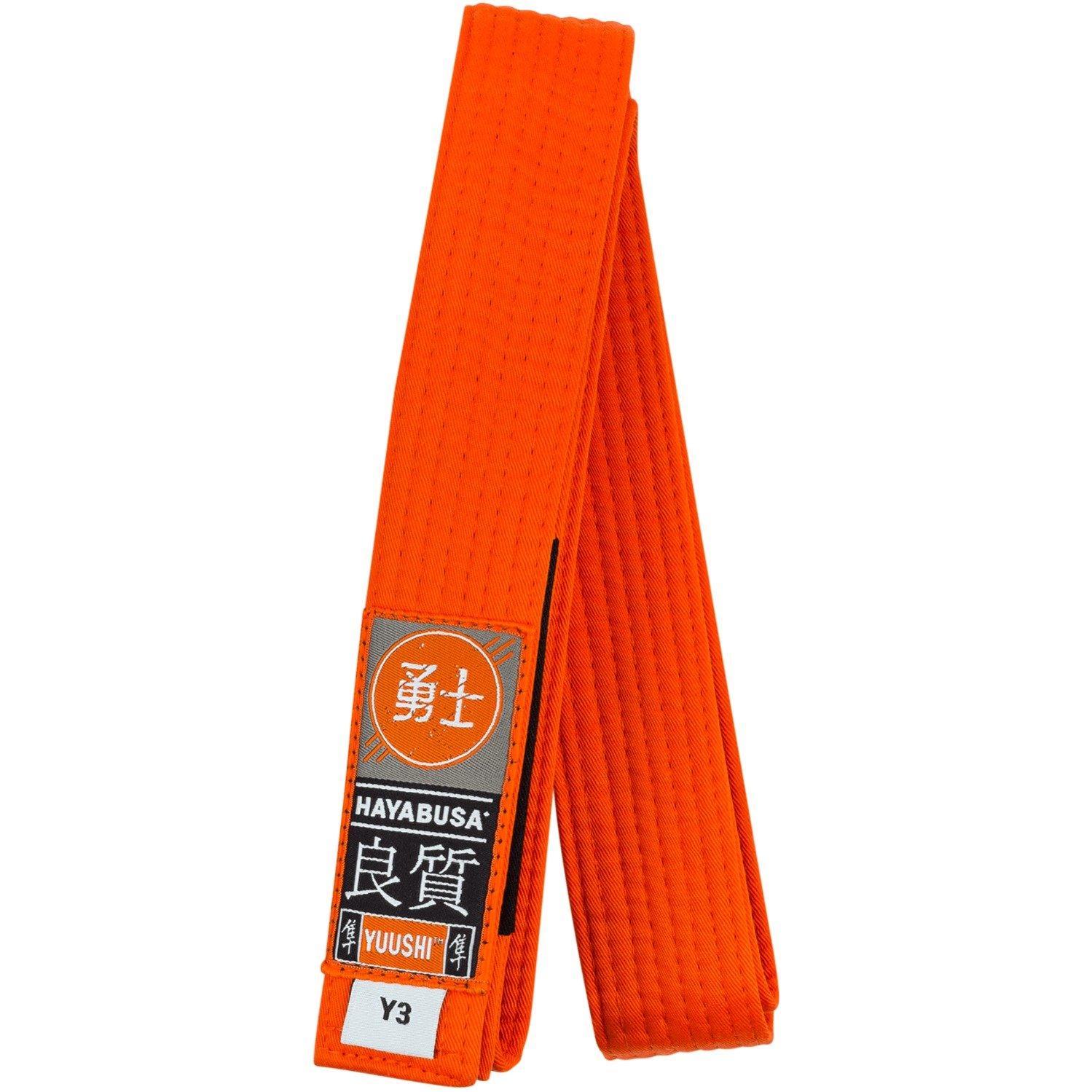 Hayabusa Cotton Youth Jiu Jitsu Belt, Orange, Y00 by Hayabusa