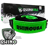 Rhino USA Tree Saver Winch Strap 3 inch x 8 Foot - Lab Tested 31,518lb Break Strength - Triple Reinforced Loop End to…