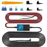 VanTop V9F Dash Cam Hardwire Kit, 11.5ft Mini USB Hard Wire Kit for Dashcam Converts 12V-24V to 5V/2.5A w/Fuse Kit and Instal