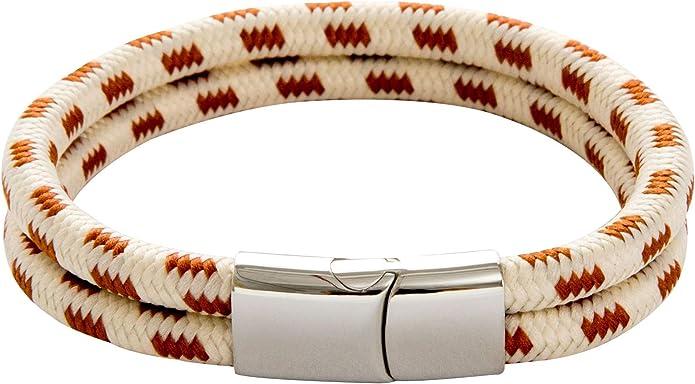 Pulsera Nautica de Cuerda - Trenzada para Hombre y Mujer Galeara design NOA (Arena, 185): Amazon.es: Joyería