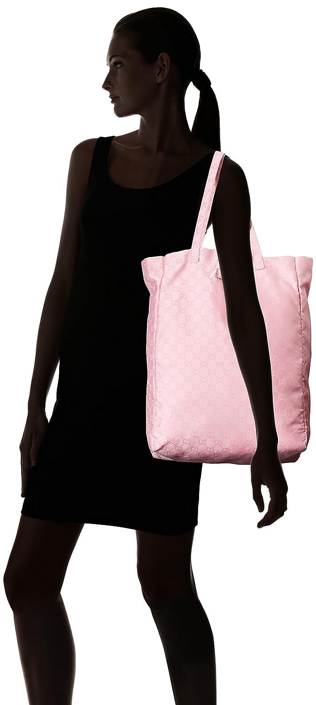 97b6fea4eb6 Amazon.com   Gucci Mama s Bag 281487 Baby Pink Nylon Gg Logo Tote Bag   Baby