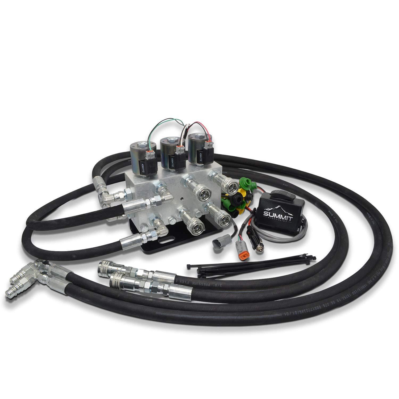 Electric Dual Rear Remote Kit for JD 2032R, 2025R, 1026R, 1025R, 1023E by Summit Hydraulics