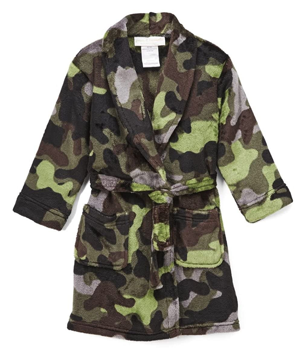 Komar Kids Boy's Camouflage Camo Luxe Fleece Bathrobe, Robe