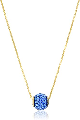 Antique Women Gold Filled Stud Earrings Sapphire Crystal Pendant Chain Necklace