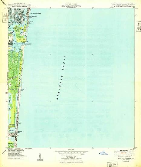 Amazon.com : YellowMaps Port Everglades FL topo map, 1:24000 ...
