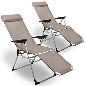 Liegestuhl Gartenstuhl.Amazon De Julido 2er Set Relax Liegestuhl Gartenstuhl
