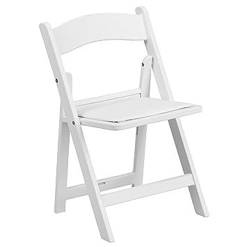 Flash Muebles para niños Blanco Resina Silla Plegable con ...