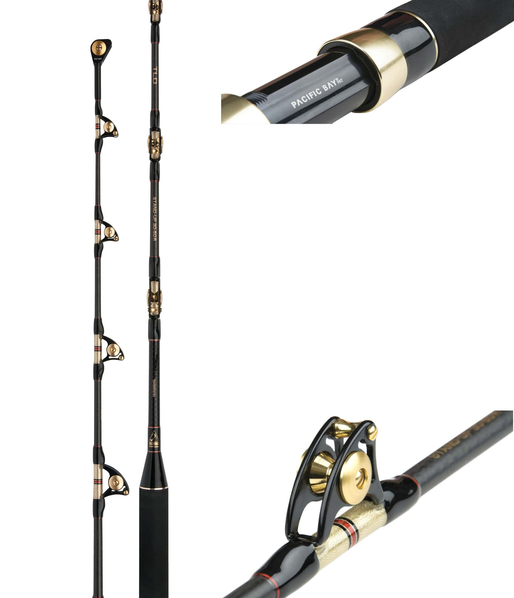 Shimano TLD Stand-up, 50-80lbs, 1,67m, Boat rod with Rollerguides by Shimano