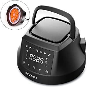 ROZMOZ Air Fryer Lid for Instant Pot 6QT Pressure Cooker, 7 in 1 Air Fryer Lid for Most 6QT Electric Pressure Cooker, Turn Most 6QT Pressure Cooker into an Air Fryer, with LED Touchscreen and ETL Safety Protection for Air Frying