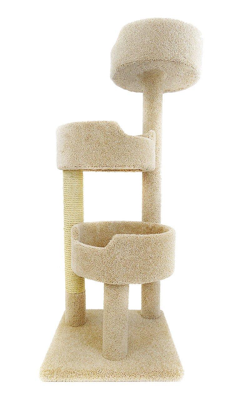 amazoncom  new cat condos deluxe kitty pad beige  pet supplies -