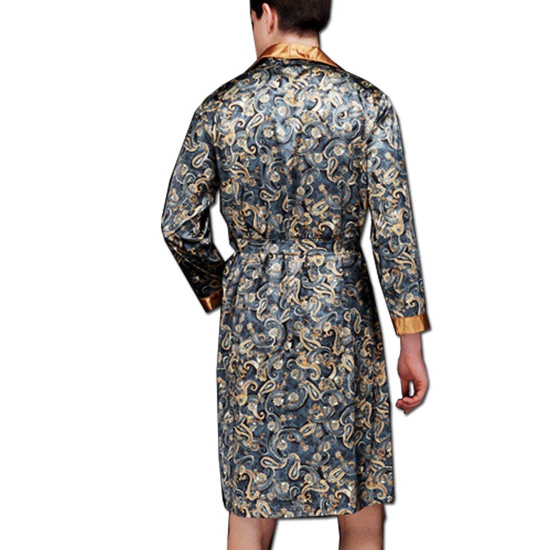 KAXIDY Pigiama da Uomo Kimono da Notte Vestaglie Camicia da Notte Accappatoio