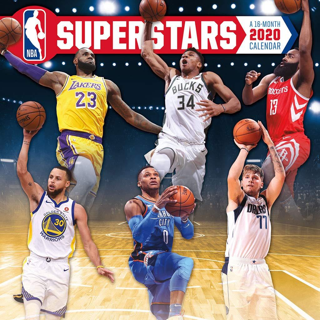 NBA Superstars 2020 Wall Calendar: Trends International