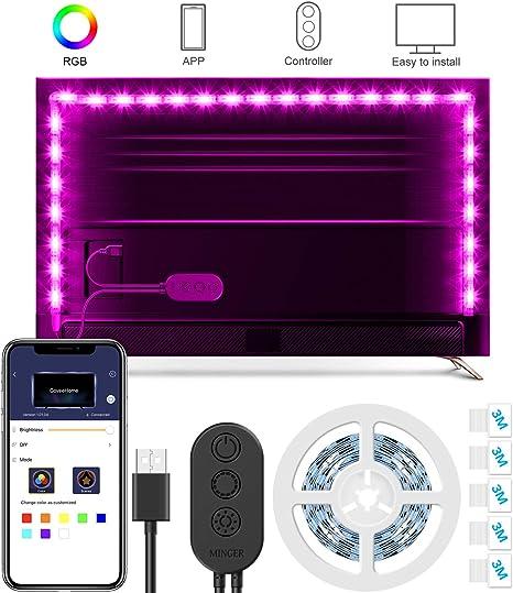 Retroiluminación LED para TV, Minger Tira LED para TV de 2 Metros ...