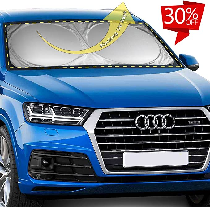 Jist Zovi Car Windshield Sunshade Blocks Uv Rays Sun Visor Protector Foldable Sun Shield to Keep Your Vehicle Cool and Damage Free for Most Sedans SUV Truck Universe Stars Blue Butterfly
