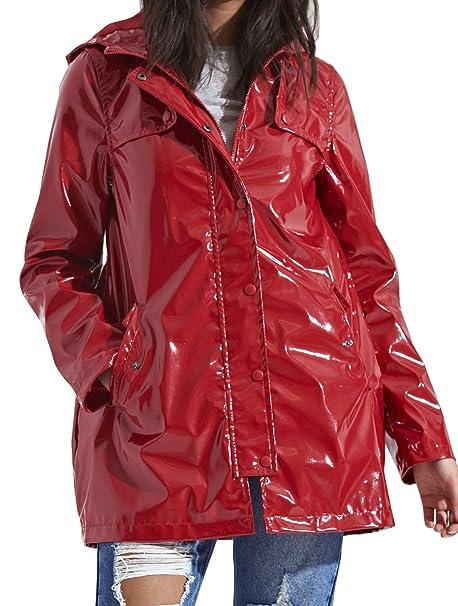 8ef3767a2 SheLikes - Abrigo impermeable - para mujer: Amazon.es: Ropa y accesorios
