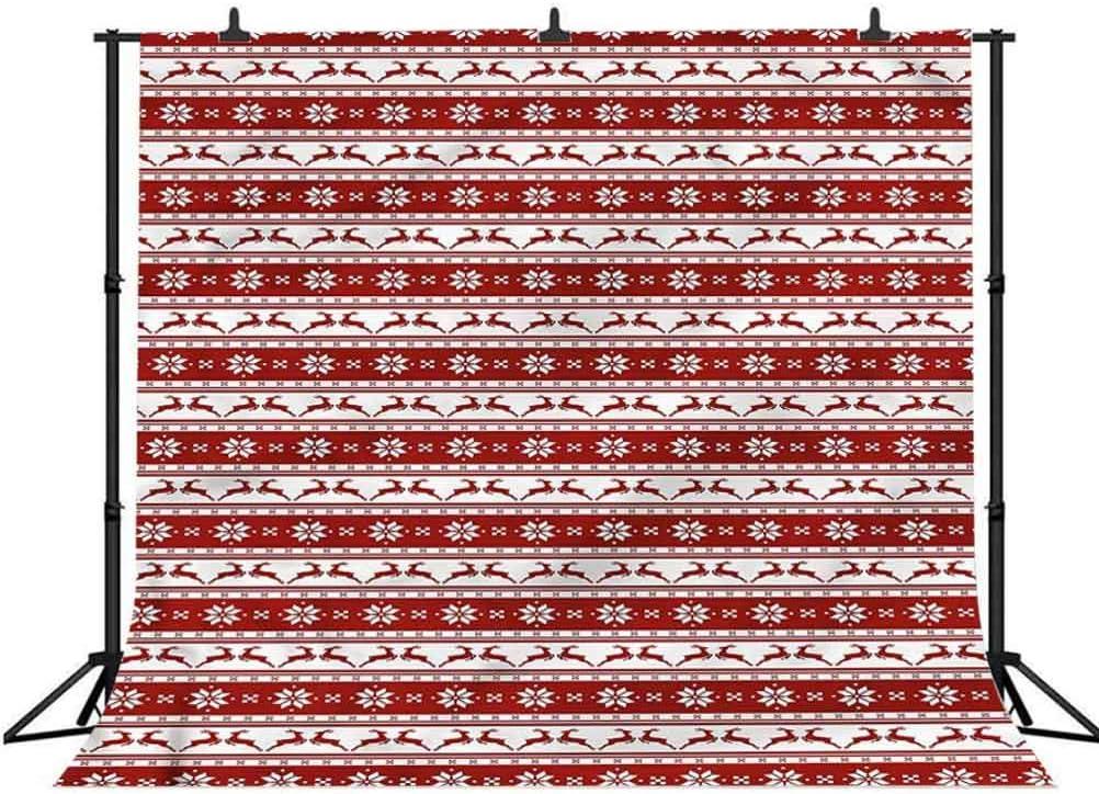 6x6FT Vinyl Photography Backdrop,Christmas,Winter Deer Snowflake Photoshoot Props Photo Background Studio Prop