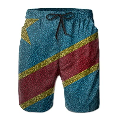 HFSST Flag of Drc Leather PatternHandsome Fashion Summer Cool Shorts Swimming Trunks Beachwear Beach Shorts