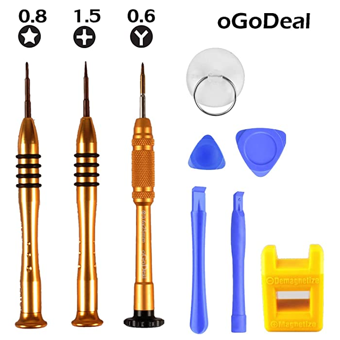 Screwdriver Set Kit for Apple iPhone 8 8 Plus 7 7 Plus 6S 6 Plus SE 5S 5 5C 4S Screwdirver Set 1.5mm Phillips,0.8mm Star Pentalobe Screwdriver,Y 0.6mm Tri-point Triwing iPhone X 7 8 Repair Tool Kit