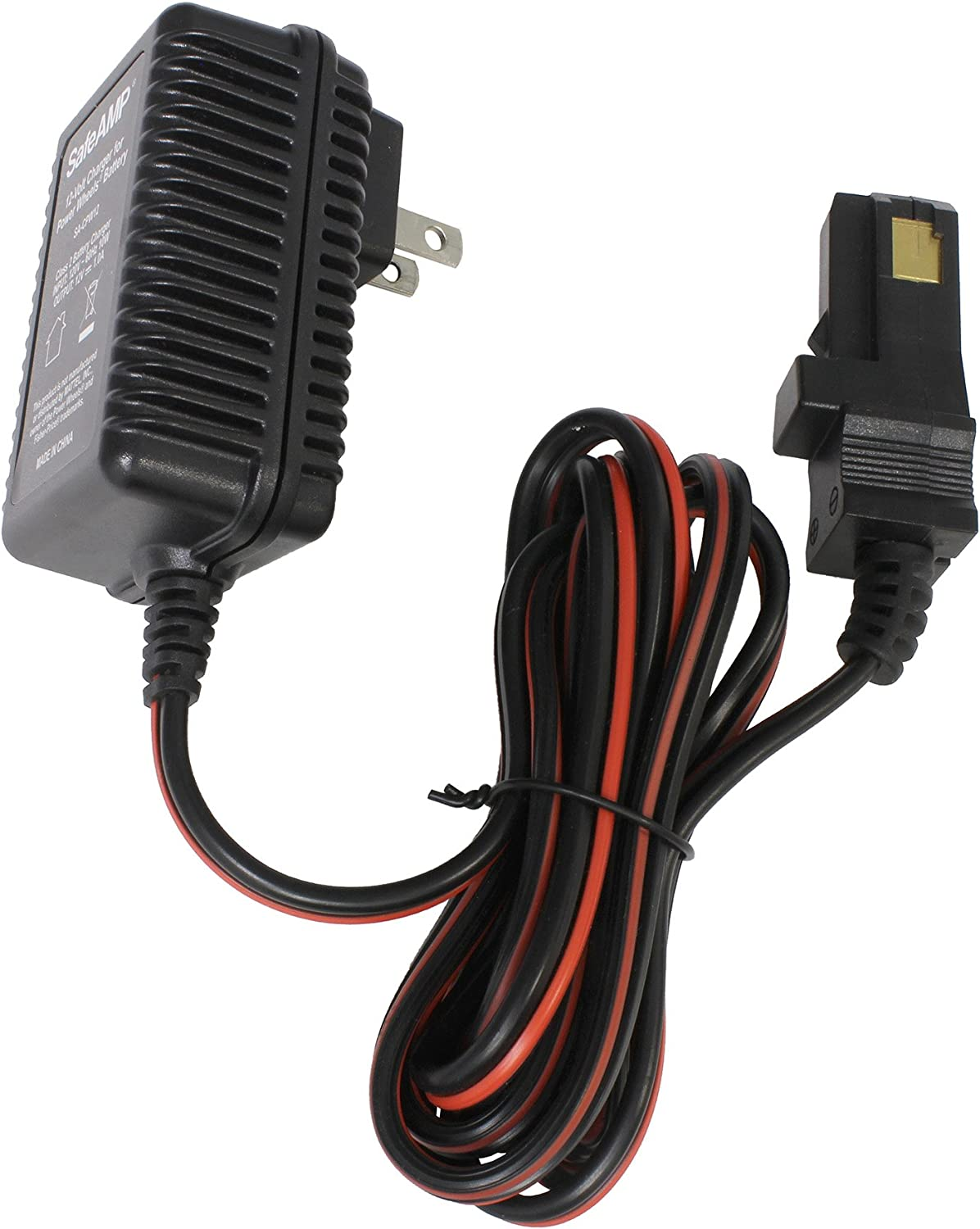 B076DJ1SRS SafeAMP 12-Volt Charger for Power Wheels Gray Battery and Orange Top Battery 71anGrsF-RL