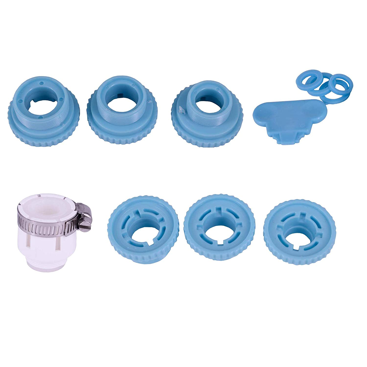 Alovexiong 8 Piece Female Faucet Adapter Kit Brass Aerator