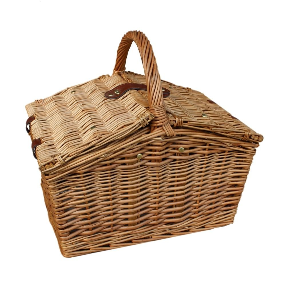 Slope-Sided Light Steamed Wicker Basket by Red Hamper