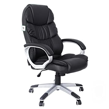 songmics office executive swivel chair with 76 cm high back large