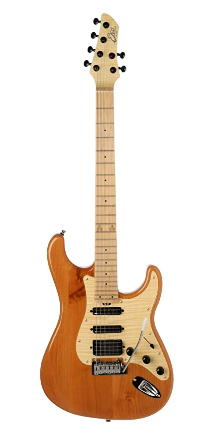 EKO guitarras 05130190 estándar serie aire guitarra eléctrica, Natural con madera de arce flameado (