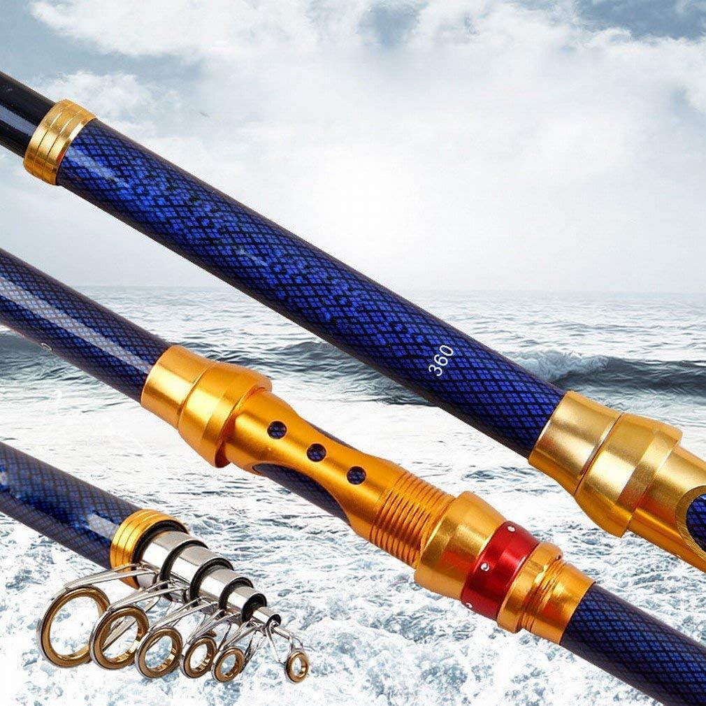 海柱2.1m / 2.4m / 2.7m / 3.0m / 3.6m釣竿ロングスローポール釣り用品ポール釣りギア、2.4メートル