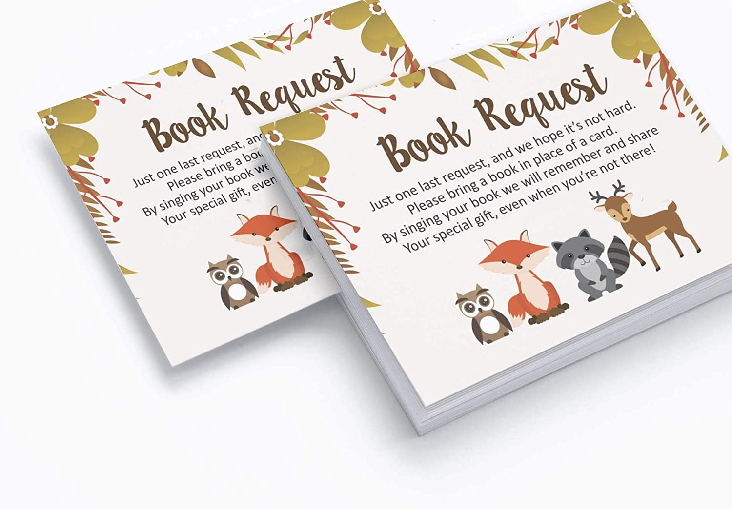 Inkdotpot 30 Books for Baby Shower Request Cards Bring A Book Instead of A Card Jungle Animals Gender Neutral Baby Shower Invitations Inserts Games