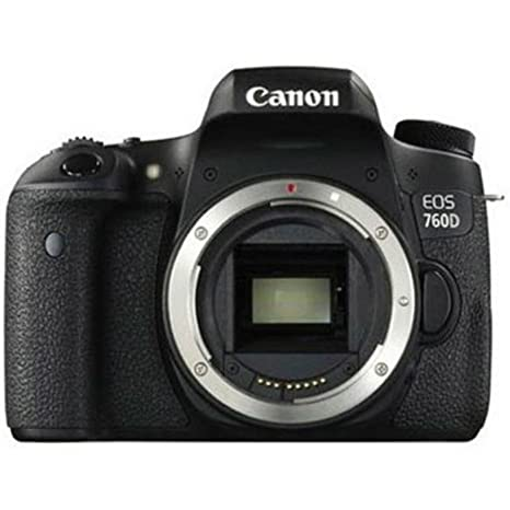 Canon EOS 760D 24.2MP Digital SLR Camera  Black  with 18 135 STM Lens, Memory Card, Camera Bag Digital SLRs