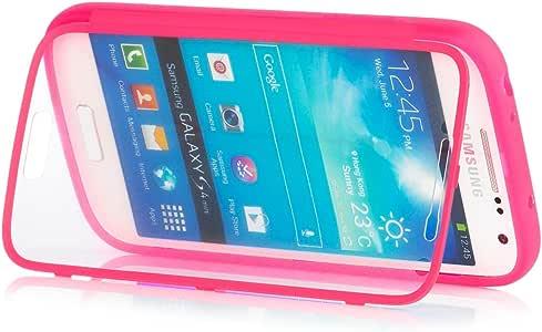 Samsung Galaxy S4 MINI   iCues táctil TPU Rosa   Caso duro