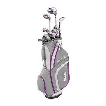 Wilson, Set completo para principiantes, 9 palos de golf con carro, Mujer (mano derecha) Stretch XL, Blanco/Gris/Violeta, WGG157554: Amazon.es: Deportes y ...