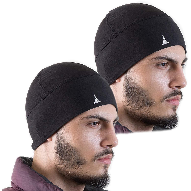 9c60c304566 Amazon.com  French Fitness Revolution Helmet Liner Skull Cap Beanie.  Ultimate Thermal Retention and Performance Moisture Wicking. Fits Under  Helmet  Sports ...