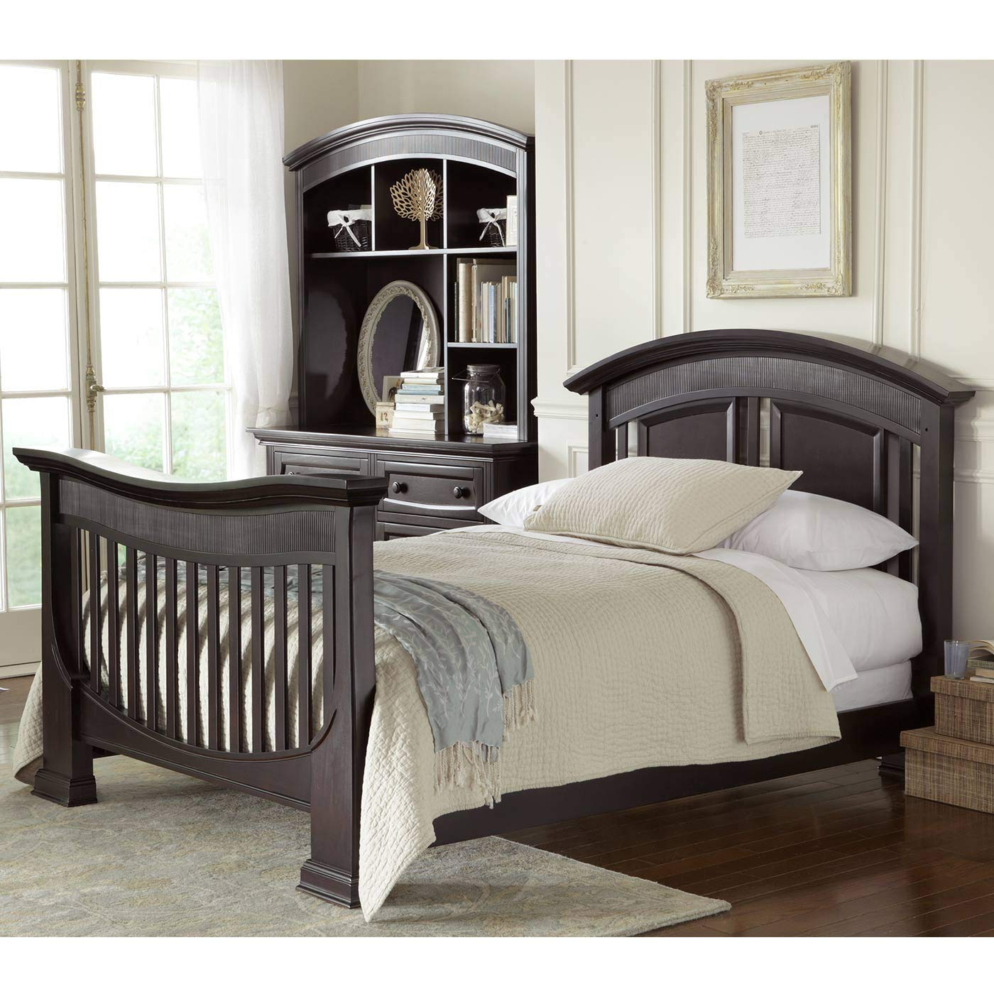 Full Size Conversion Kit Bed Rails for Baby Appleseed Beaumont, Chelmsford, Davenport, Kennedy, Millbury, Stratford Cribs (Espresso) by CC KITS (Image #3)