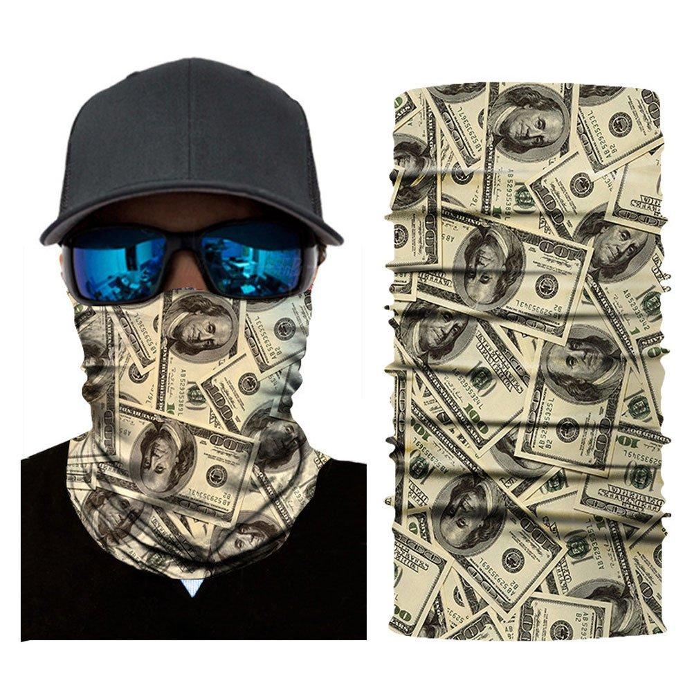 CapsA Face Shield for Men Novelty Bandanas for Music Festivals Raves Riding Outdoors Cycling Motorcycle Head Scarf Neck Balaclava Headband Dust Protection Face mask