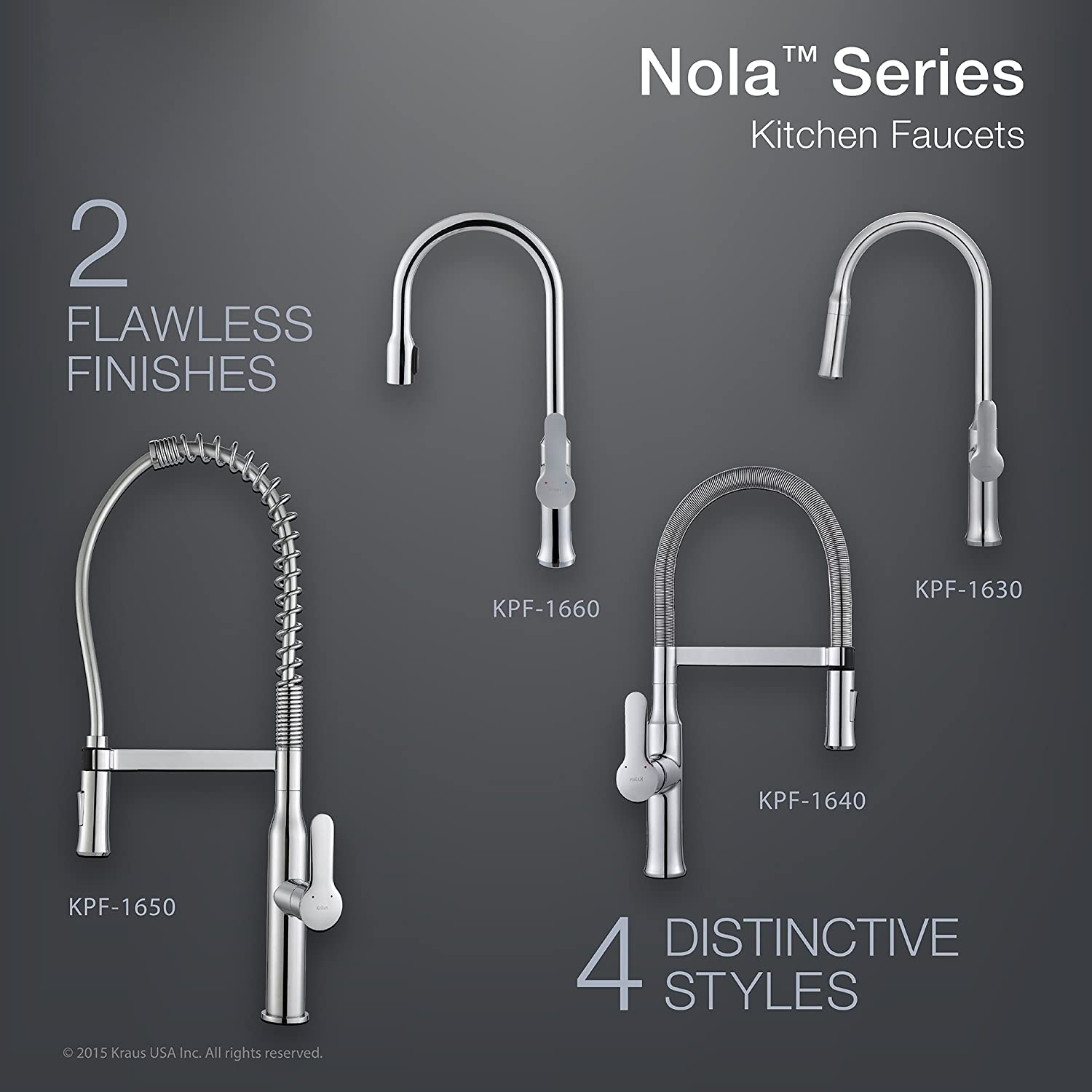BZE all metal kitchen faucets Kraus KPF CH Modern Nola Single Lever Concealed Pull Down Kitchen Faucet Chrome Amazon com