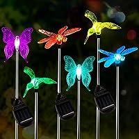[6-Pack] Garden Solar Lights Outdoor,OxyLED Figurine Stake Light, Multi-Color Changing Decorative Landscape Lighting LED…