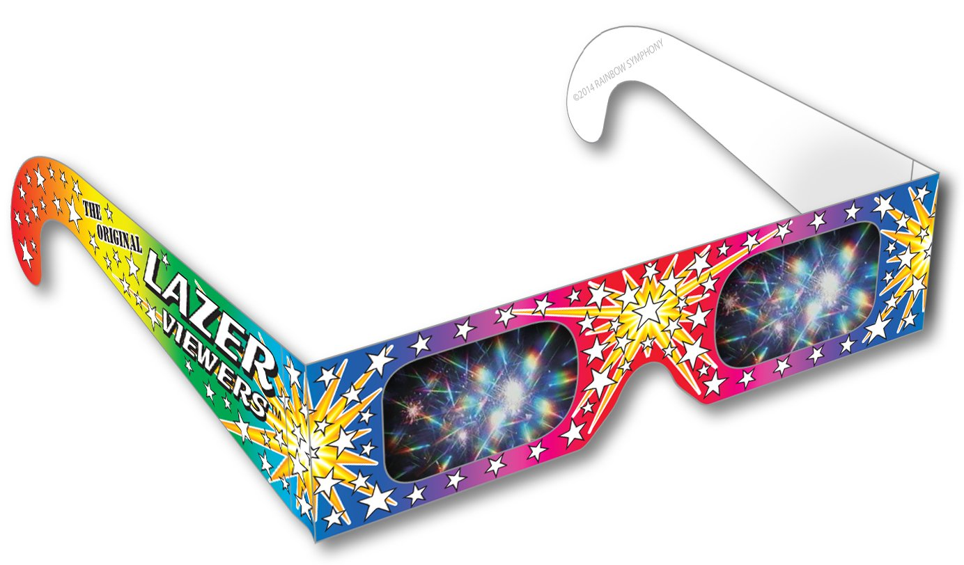 Rainbow Symphony 3D Fireworks Glasses - Original Laser Viewers, Package of 50 by Rainbow Symphony
