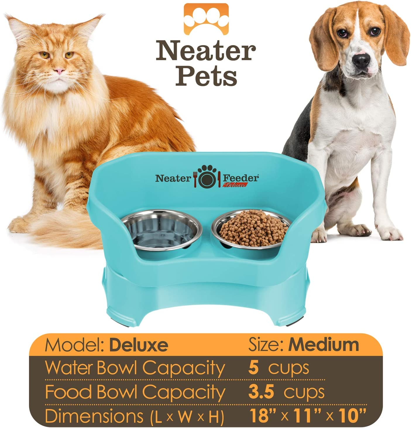Neater Pet Brands Neater Feeder Deluxe Dog and Cat Variations and Colors