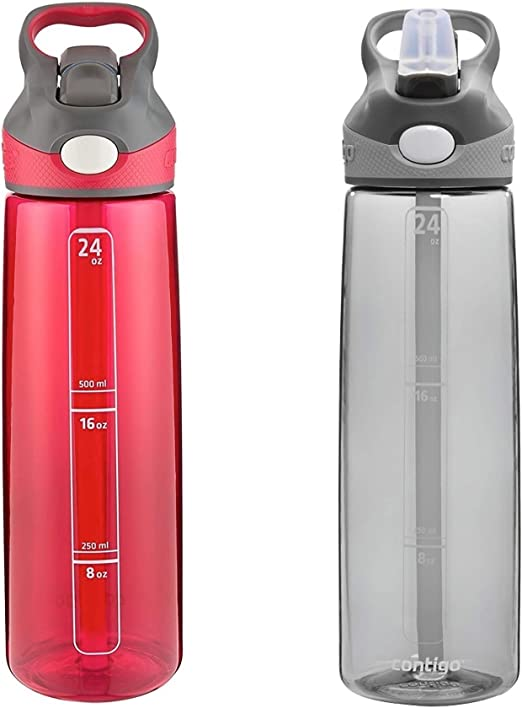 Amazon.com: Contigo Autospout Addison Botella de agua ...
