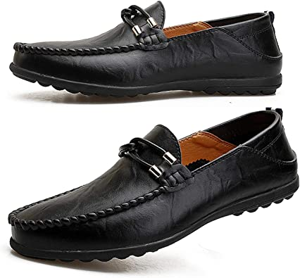 Men/'s Leather Driving Shoes Casual Slip On Loafers Breathable Moccasins size 10