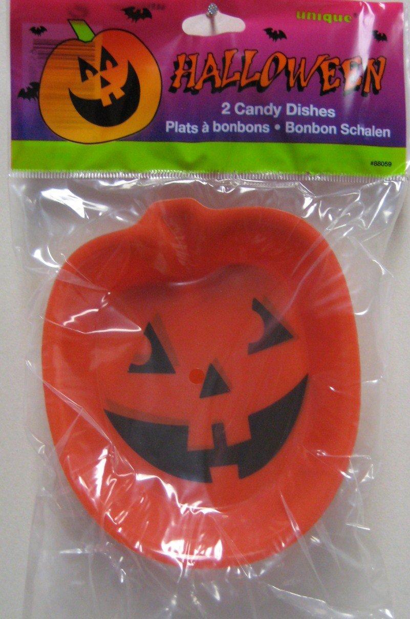 Halloween Pumpkin Candy Dish 2pk. unique 88059UNQ-A