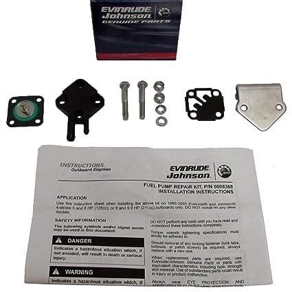 77eb1dd7e6d44 Amazon.com: 5008368 0445078 5007429 BRP OMC Fuel Pump Kit Evinrude Johnson 5-9.9  HP: Automotive