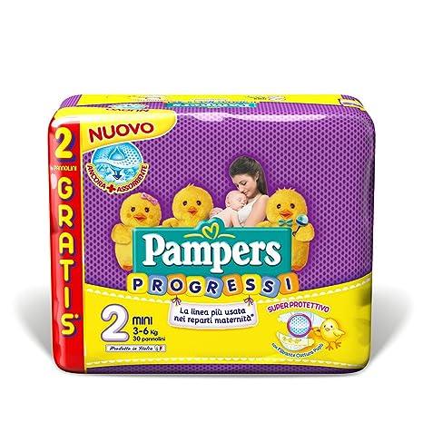 Pampers New Baby Progressi - Pañal (Niño/niña, Pañal desechable, 3 kg