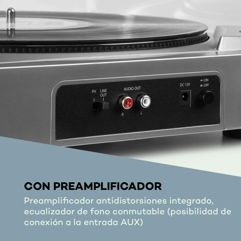 auna Fullmatic - Tocadiscos automático , 33 o 45 revoluciones por ...