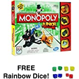 Monopoly Junior with FREE Rainbow Dice Pack
